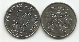 Trinidad And Tobago 10 Cents 1972. High Grade - Trinité & Tobago