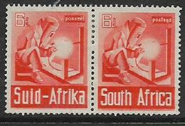 S.Africa 1941, War Effort, 6d Horizontal Pair, MH * - Zuid-Afrika (...-1961)