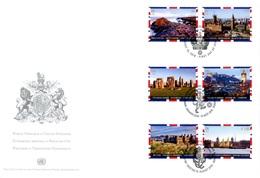 """ONU New-York Genève Vienne 2018 - Unesco - Patrimoine Mondial """"United Kingdom"""" FDC - Emissions Communes New York/Genève/Vienne"""