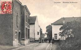 Houtain St-Siméon - La Poste (animée, 1908..adhésif) - Oupeye