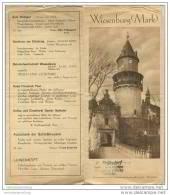 Wiesenburg (Mark) 30er Jahre - Faltblatt Mit 7 Abbildungen - Brandenburg