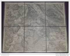 Königreich Preussen - Kreis Höxter Hameln Alfeld Einbeck Unslar 1914 30cm X 37cm Auf Leinen 1:100 000 - Landkarten