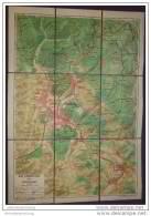 Bad Liebenstein Und Umgebung 1957 - VEB Landkartenverlag - 1:20 000 Auf Leinen - 42cm X 60cm - Beliebte Wanderwege Etc. - Landkarten