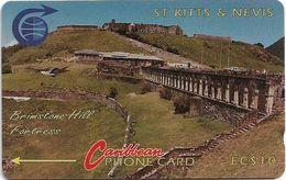 St. Kitts & Nevis - Brimstone Hill Fortress - 3CSKA - 1990, 9.351ex, Used - St. Kitts & Nevis