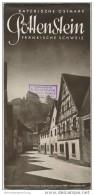Pottenstein 1938 - Faltblatt Mit 10 Abbildungen - Beiliegend Wohnungsliste - Reiseprospekte