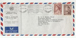 1957 UN In GREECE COVER To UN TELEVISION CHIEF RADIO DIV  NY USA Airmail United Nations Stamps Tv Broadcasting - Greece