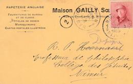 Nivelles , Carte Publicité ,papeterie Anglaise , Maison  Gailly Soeurs - Nivelles