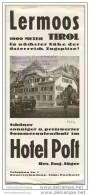 Lermoos - Hotel Post Besitzer Eng. Jäger 30er Jahre - Faltblatt 14 Abbildungen - Oesterreich