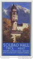 Hall In Tirol 30er Jahre - Faltblatt Mit 19 Abbildungen - Oesterreich