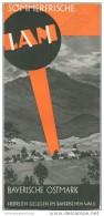 Lam Im Bayrischen Wald 1935 - Faltblatt Mit 12 Abbildungen - Beiliegend Verzeichnis Der Hotels Gaststätten - Reiseprospekte