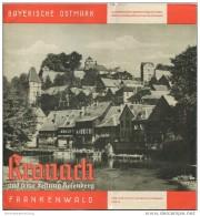 Kronach 1938 - 8 Seiten Mit 10 Abbildungen - Beiliegend Hotel- Und Gaststätten-Verzeichnis - Reiseprospekte