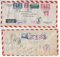 1951 Registered TURKEY COVER Stamps RED CRESCENT CHILD NURSE AIRCRAFT Airmail To USA Health Red Cross Nursing Aviation - 1921-... Republic