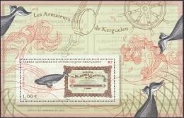 TAAF 2013 Yvert F685 Neuf ** Cote (2015) 2.00 Euro Baleine Les Armateurs De Kerguelen - Blocs-feuillets