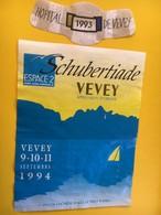 8774 - Schubertiade 1994 Vevey  Espace 2 Suisse Caves De L'Hôpital 1993 - Musique
