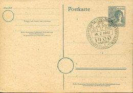 37286 Germany,special Postmark 1947 Ebenhausen Munchen 1400 Jahre St.benediktus, St.benedict - Cristianismo
