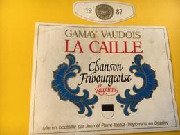 8775 - Chanson Fribourgeoise Lausanne Suisse Gamay Vaudois La Caille - Musique