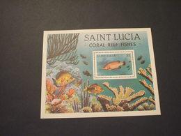 ST. LUCIA - BF 1983 PESCE - NUOVO(++) - St.Lucia (1979-...)