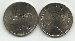 Fiji 5 Cents 1975. KM#29 High Grade - Fidji