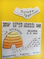 8777 - 29e Giron Choral De La Morges Aclens 1992 La Paysanne  Suisse - Musique