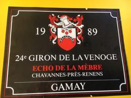 8778 - 24e Giron De La Venoge Echo De La Mèbre 1989  Suisse 2 étiquettes - Musique