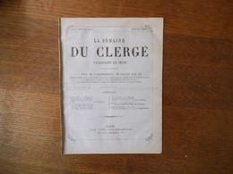 LA SEMAINE DU CLERGE N° 7 DU 9 JANVIER 1879 - Religion & Esotérisme