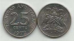 Trinidad And Tobago 25 Cents 1972. High Grade - Trinité & Tobago