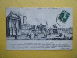 DIJON. La Place Royale Et L'Ancien Palais Des Ducs De Bourgogne. - Dijon