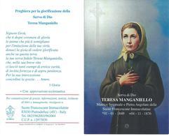 S.D.D. TERESA MANGANIELLO -  CON RELIQUIA - Mm. 99 X 159 - M  - A - Religione & Esoterismo