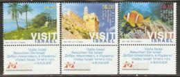 Israel 2011 Mi# 2202-2204 ** MNH - With Tabs - Tourism - Israel