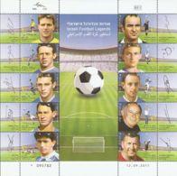 Israel 2011 Mi# 2251-2260 Kleinbogen ** MNH - With Tabs - Soccer / Football - Israel