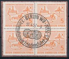 DDR 568 Internationale Friedensfahrt Auf Ausschnitt Mit Sauberem SS - Zentrumstempel BERLIN W8 - Oblitérés