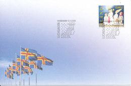 Aland FDC 13-12-2003 Christmas Stamp With Cachet - Aland