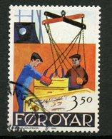 Faroe Islands 1990 350o Unloading Fish Issue #201 - Faroe Islands