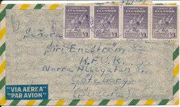 Ecuador Air Mail Cover Sent To Sweden 1-3-1947 - Ecuador