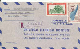 Peru Registered Air Mail Cover Sent To USA Lima10-11-1964 (the Stamps Are Damaged By Opening Of The Cover) - Peru