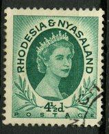 Rhodesia And Nyasaland 1954 4 1/2p Queen Elizabeth Issue #146 - Rhodesia & Nyasaland (1954-1963)