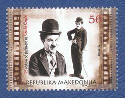 MACEDOINE Charlie CHAPLIN Neuf **. 125e Anniversaire De La Naissance. Cinéma Film, Movie. - Film