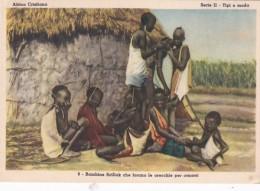 Missions Africa Cristiana Bambine Scilluk che forano le orecchie