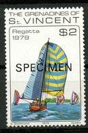 St. Vincent & Grenadines 1979 $2.00 Sailboat Issue #169  MNH Specimen Overprint - St.Vincent & Grenadines