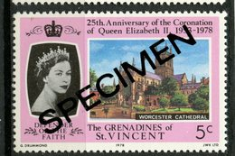 St. Vincent & Grenadines 1978 5C Coronationt Issue #153  MNH Specimen Overprint - St.Vincent & Grenadines