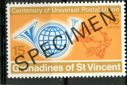 St. Vincent & Grenadines 1974 15C UPU Issue #26  MNH Specimen Overprint - St.Vincent & Grenadines