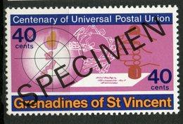 St. Vincent & Grenadines 1974 40C UPU Issue #27  MNH Specimen Overprint - St.Vincent & Grenadines