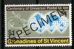 St. Vincent & Grenadines 1974 $1.00 UPU Issue #28  MNH Specimen Overprint - St.Vincent & Grenadines