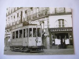 NANTES (44) : Motrice Franco-Belges De 1914 Sur Les Quais En 1954 - Voir Les 2 Scans - Tramways