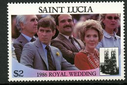 St. Lucia 1986 $2.00 Royal Wedding Issue #840b  MNH - St.Lucia (1979-...)