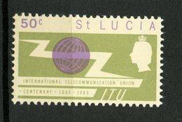 St. Lucia 1965 50c ITU Issue #198 MNH - St.Lucia (1979-...)