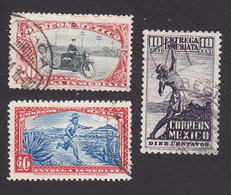 Mexico, Scott #E2-E4, Used, Motorcycle Postman, Messenger, Indian Archer, Issued 1923-34 - Mexico