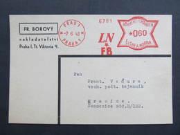 BRIEF Praha LNFB 1943 Frankotype Freistempel Postfreistempel// N7347 - Briefe U. Dokumente