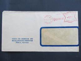 BRIEF Praha 1 Chemisolo 1943  Frankotype Freistempel Postfreistempel// N7355 - Böhmen Und Mähren