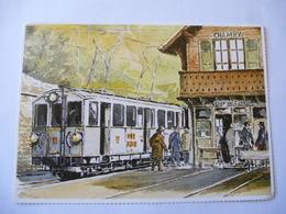 SUISSE : CHAMBY (Canton De Vaud) CPM Illustré D'une Motrice Ancienne - Voir Les 2 Scans - Trains